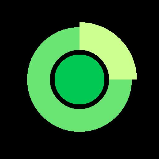 analytics, chart, percentage, pie, presentation icon