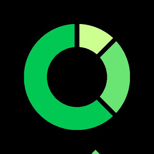 analytics, chart, comparison, doughnut icon
