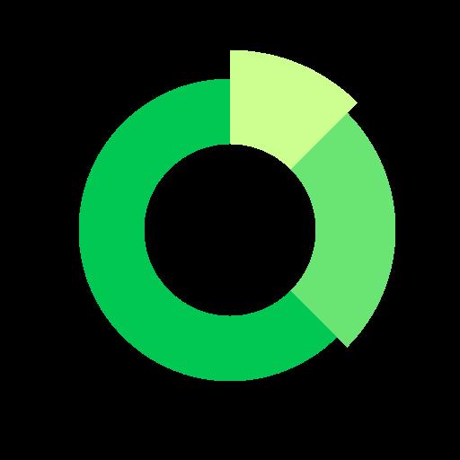 analytics, chart, comparison, data, doughnut icon