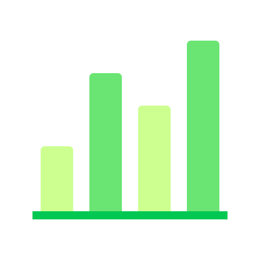 bar, chart, comparison, fluctuating icon