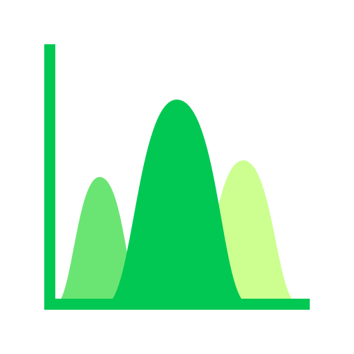analytics, frequency, peaks icon