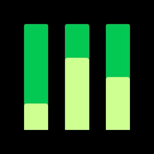 analytics, chart, comparison, percentage, vertical icon