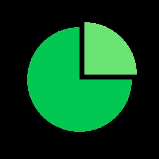 chart, infographic, pie, statistics icon