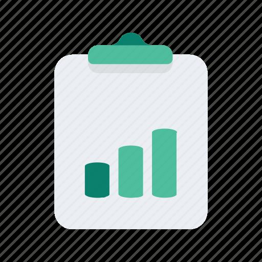 analytics, chart, clipboard, clipchart, graph, statistics icon