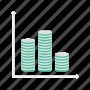 analytics, chart, cylinder, graph, statistics icon