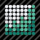 analytics, chart, dots, graph, statistics icon