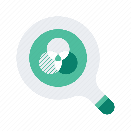 analytics, chart, find, graph, overlap, search, statistics icon