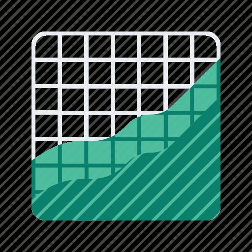 analytics, chart, graph, statistics, wave icon