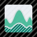 analytics, chart, graph, line, statistics, wave icon