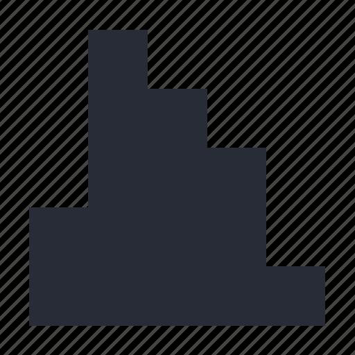 analysis, data, diagram, distribution, histogram icon