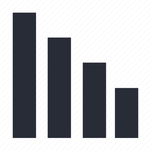 analytics, chart, column, diagram, ordered, plot, ranking icon