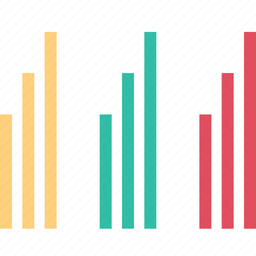 bars, data, high, sales icon