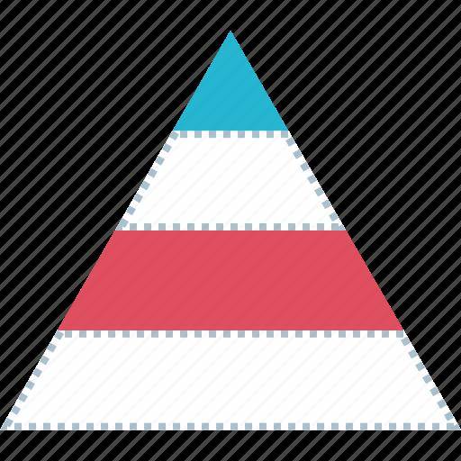 chart, charts, diagram, pyramid icon