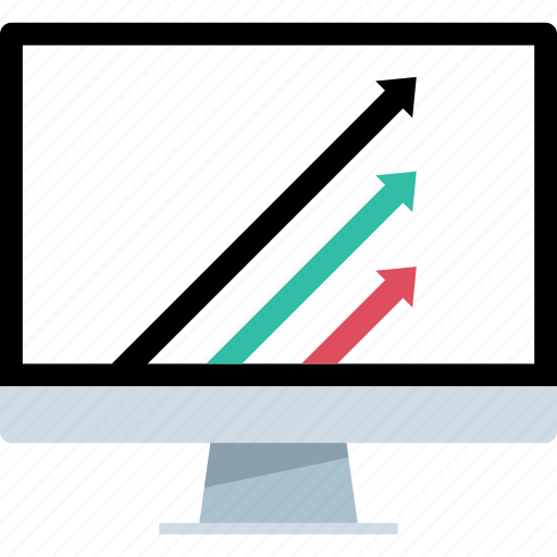 arrows, data, online, web icon