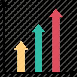 arrows, diagram, high, up icon