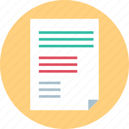 chart, diagram, page, report icon