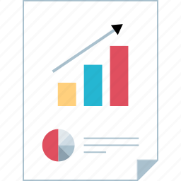 graphic, graphical, page, report icon