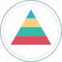 bars, chart, diagram, pyramid icon