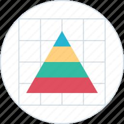 chart, diagram, graph, pyramid icon