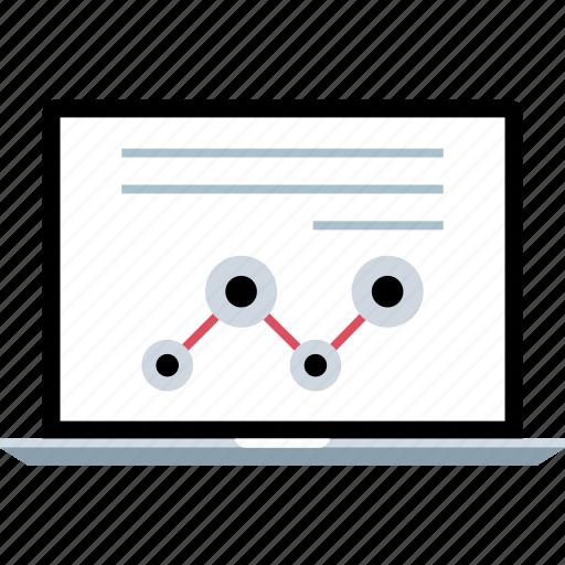 laptop, online, seo, web icon