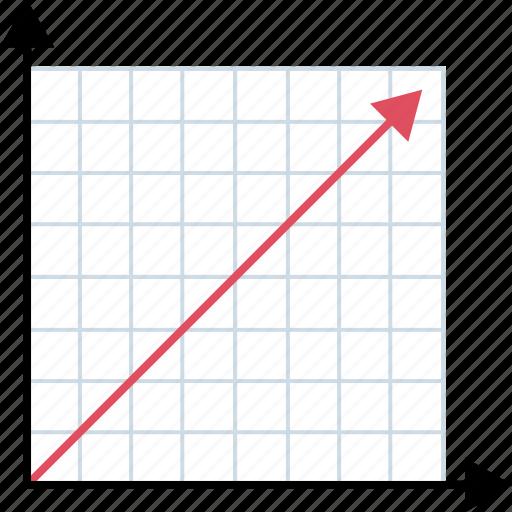 arrow, graph, high, sales icon