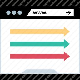 arrows, go, right, www icon