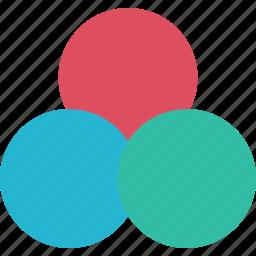 colors, compare, comparison icon