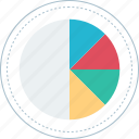chart, graph, online, pie icon