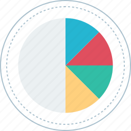 chart, graph, online, pie icon