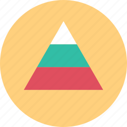 data, graphic, graphical, pyramid icon