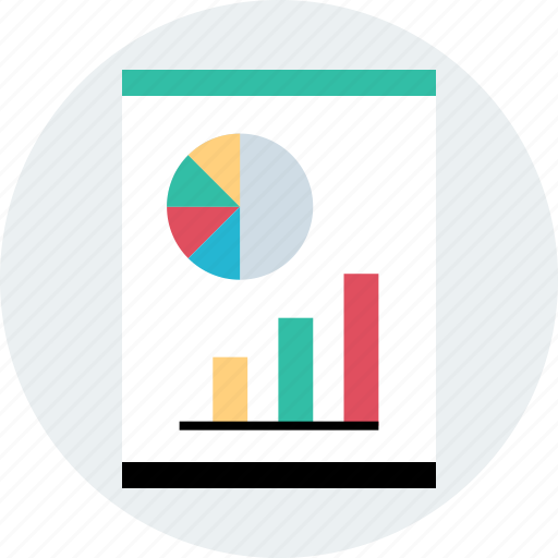 data, graph, page, report icon