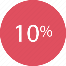 percent, rate, rating, ten icon