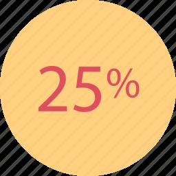 percent, rate, rating, twentyfive icon