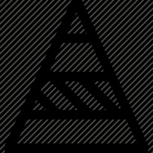 chart, decrease, graph, growth, increase, presentation, triangle icon