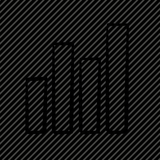 column graph, data, finance, infographics, reports icon