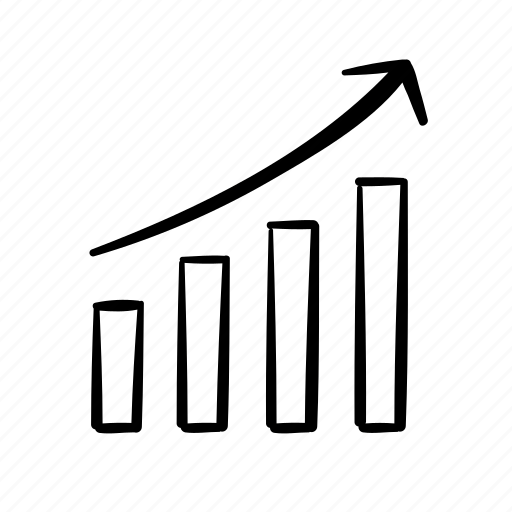 column graph, data, finance, growth chart, infographics, reports icon