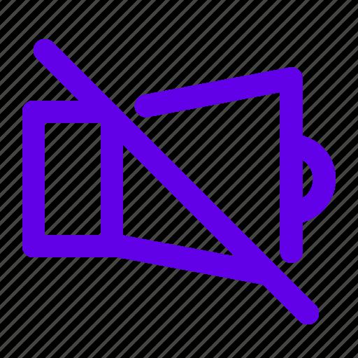 mute, noaudio, nosound, speaker icon