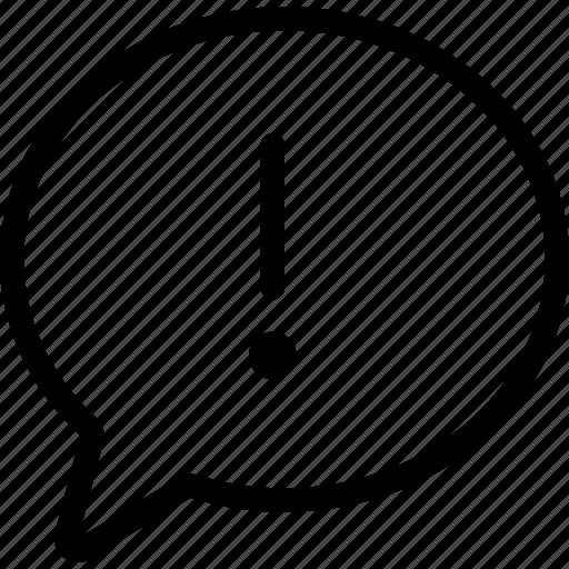 chat bubble error exclamation mark interface speech bubble