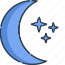 light, mode, night, star icon