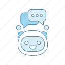 bot, chat, chatbot, chatting, robot, speech bubble, texting icon