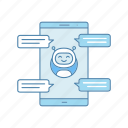 chat, chatbot, chatting, messenger, smartphone, speech bubble, texting icon