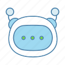 robot, message, chatbot, texting, typing, conversational entity, bot icon
