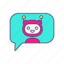online, chatbot, chat, messenger, assistant, bot, speech bubble