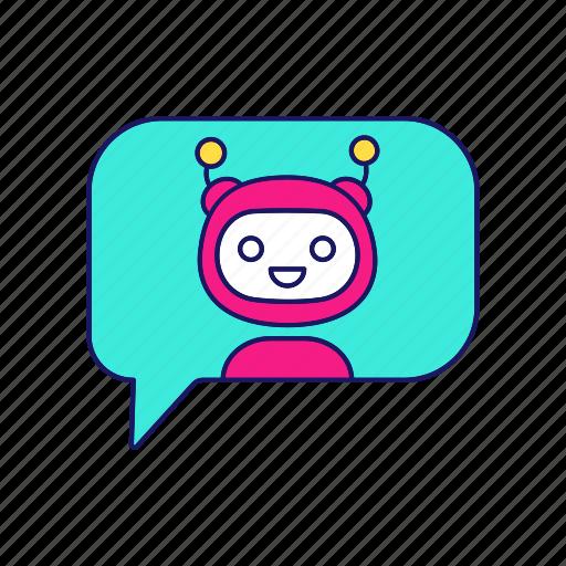 'Chat bot  Filled  Color' by bsd studio