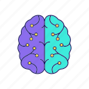 artificial intelligence, brain, digital, network, neural, neurotechnology icon