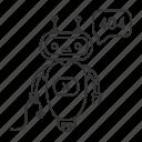 chat bot, chat box, chatbot, error, not found, robot, speech bubble