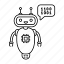 chat bot, chatbot, chip, code, codebot, coding, robot icon