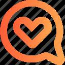 chat, communication, heart, letter, love, message, valentine