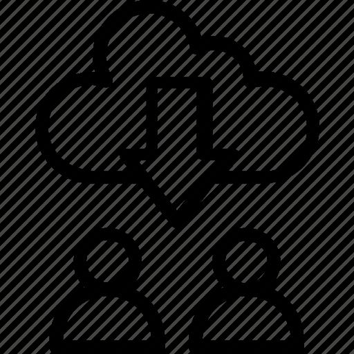 cloud communication, cloud conference, cloud network, cloud platforms, wireless communication icon