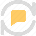 chats, discuss, informations, messages, refresh, reviews, sync, update icon